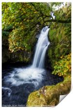 Snowdonia Waterfall, Print