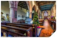 Church At Christmas, Print