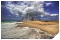 Lavante Over Gibraltar, Print