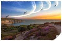 Blades Over The Needles, Print