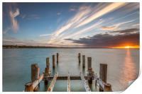 Sunset On Ryde Pier, Print