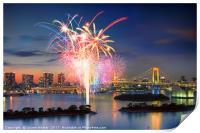 Tokyo Bay Fireworks, Print