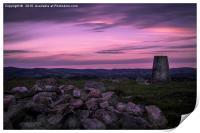 Purple Skies, Print