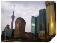 Shanghai Skyline at Sunset, Print