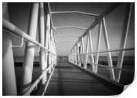 Walkway to the moorings, Print