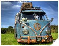 VW Campervan, Print