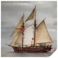 Atyla tall ship, Print
