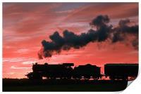 Steam Sunset Silhouette, Print