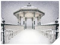 Bandstand in the snow, Print