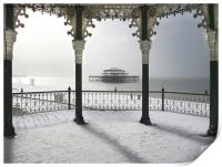 Bandstand winter view, Print