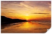 Saltburn Beach Sunset, Print