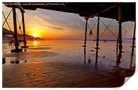 Saltburn Pier Sunset, Print