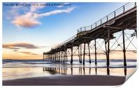 Saltburn in the afternoon light , Print