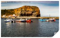 Staithes Harbour , Print