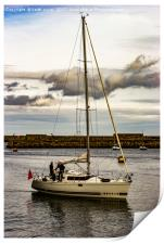 Yacht Whitby Harbour, Print