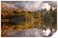 Playing Mirror. Loch Achray. Scotland, Print