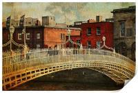 Irish Venice. Streets of Dublin. Painting Collecti, Print