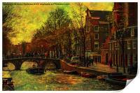 I AMsterdam. Vintage Amsterdam in Golden Light, Print