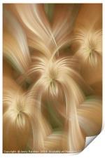 Golden creamy abstract. Concept Golden Flows. Spiritual Money, Print