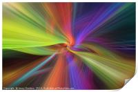 Rainbow multicilored abstract. Concept The Threads of Destiny, Print