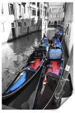 Gondolas of Venice, Print