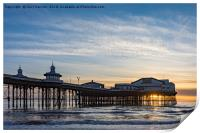 Starlings Over North Pier, Print