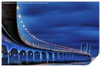 Second Severn Crossing at Night, Print