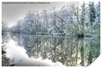 Winter Reflections at Ambergate, Derbyshire, Print