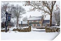 Robin Hood Inn at Baslow, Print