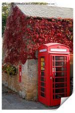 Red Telephone Box in Nottinghamshire, Print