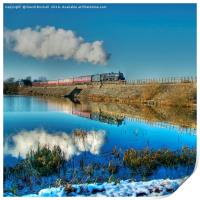 Winter Reflections at Butterley, Print
