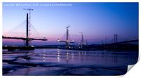 Queensferry Crossing and Road Bridge, Print