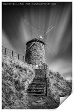 Windmill at St Monans, Print