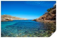 Cala Carbó on the beautiful island of Mallorca, Print