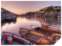 The sun goes down at Looe, Print