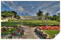 The Osborne Hotel and grounds Torquay , Print