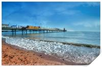 Early morning by Paignton Pier, Print