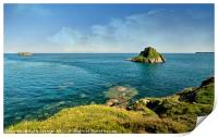 Thatcher Rock and the Orestone in Torquay, Print