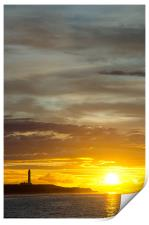 Sunset at lossiemouth lighthouse, Print