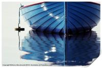 Small Blue Boat At Moorings, Print