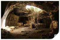 cave in Israel, Print