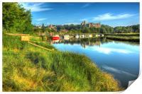 River Arun, Arundel, Print