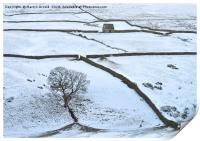 Weardale Winter Landscape, Print