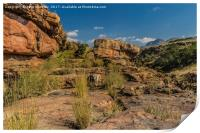 Pinnacle Rock Area Landscape - South Africa, Print