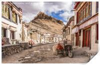 Gyantse Sidestreet, Tibet, Print
