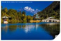 Black Dragon Lake, Lijiang, China, Print