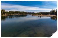 Fishing Bridge over the Yellowstone River, Print
