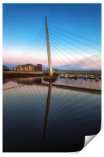 Swansea Millennium bridge , Print