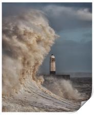 In the jaws of Hurricane Ophelia, Print