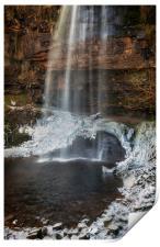 Henrhyd Falls in Winter, Print